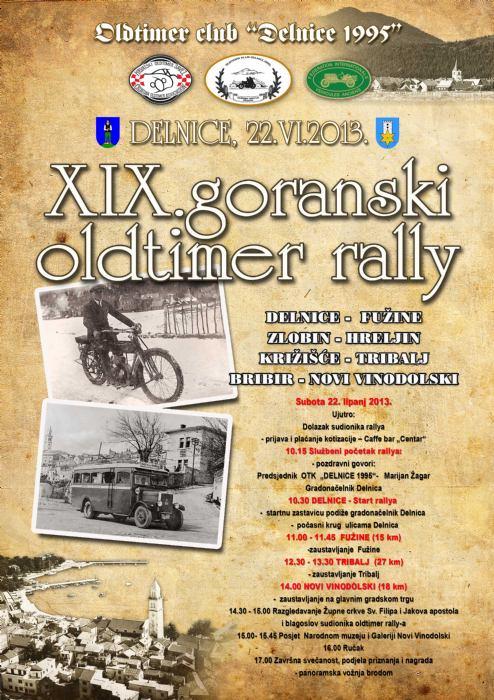 XIX. goranski oldtimer rally
