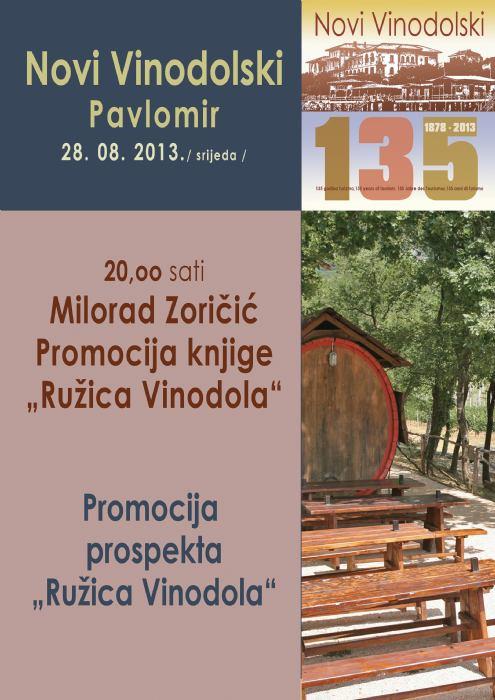 Degustacija vina iz Pavlomira povodom 15. g. vinarstva u Pavlomiru,    Milorad Zoričić - promocija knjige