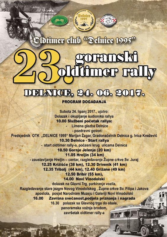 23. goranski oldtimer rally