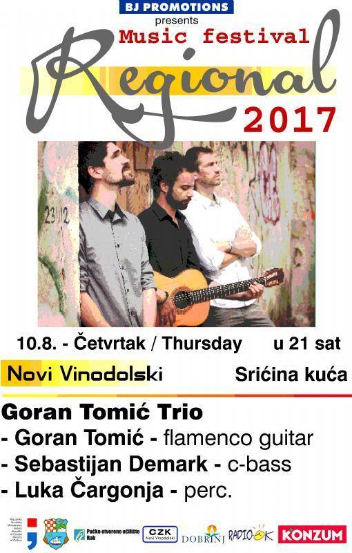 REGIONAL 2017.  - Goran Tomić Trio