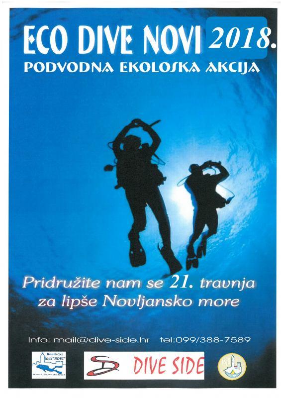 ECO DIVE NOVI 2018. - podvodna ekološka akcija