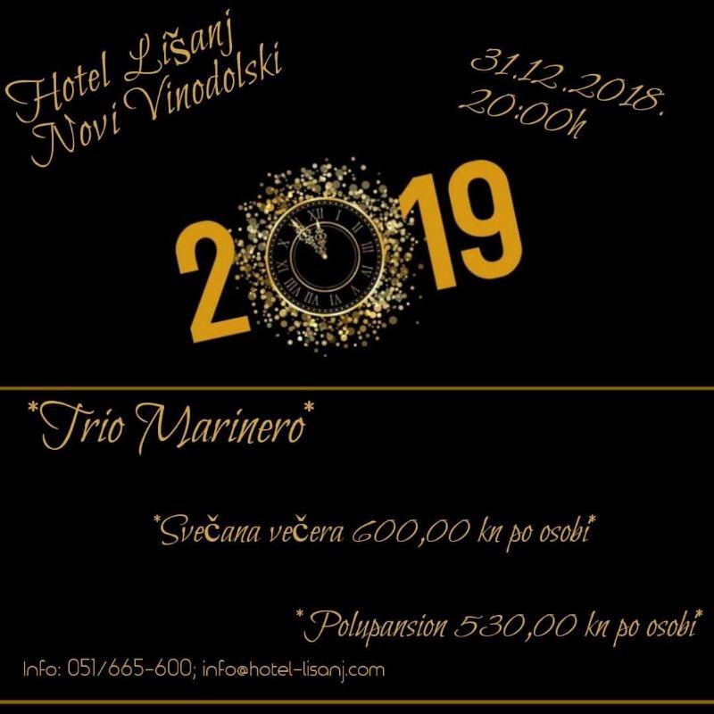 Doček Nove 2019. g. - Hotel Lišanj