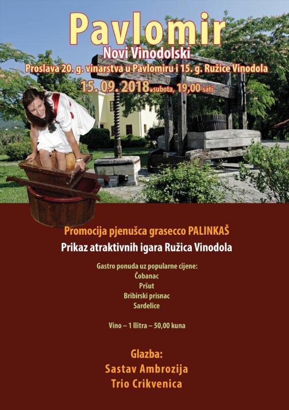 Proslava 20 godina vinarstva u Pavlomiru i 15 godina Ružice Vinodola