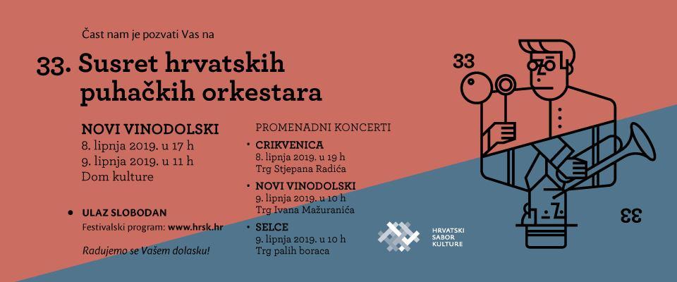 33. Susret puhačkih orkestara Hrvatske - Dom kulture