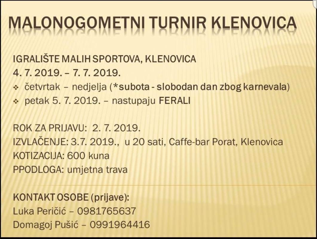 Malonogometni turnir Klenovica