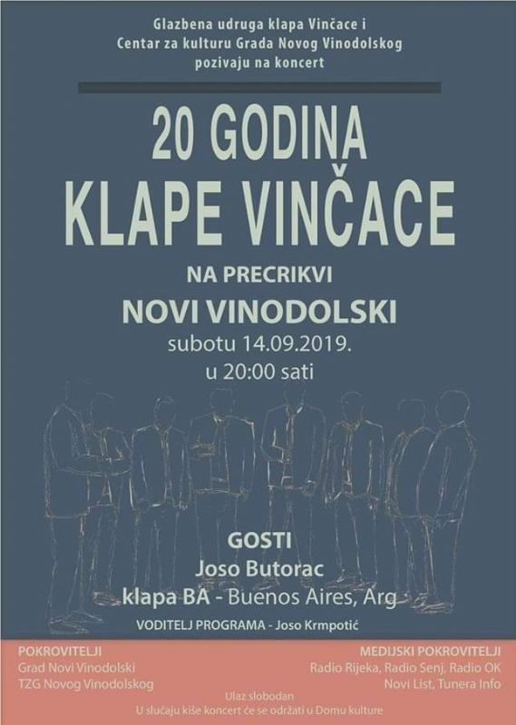 20 godina klape Vinčace