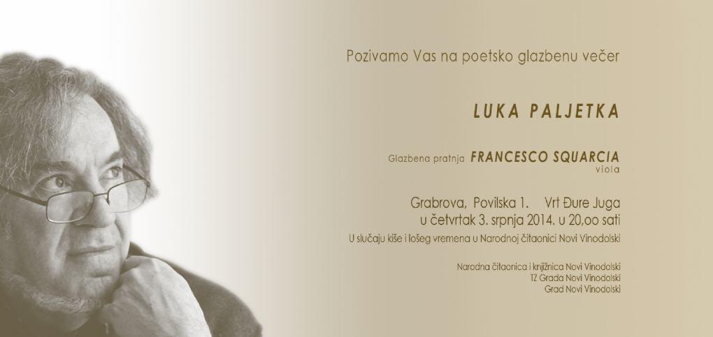 Poetsko glazbena večer Luka Paljetka