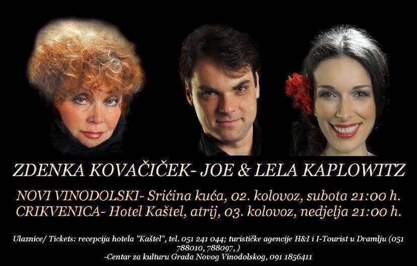 Novi music festival - Zdenka Kovačiček, Lela Kaplowitz & Joe Kaplowitz - klavir - jazz, blues & gospel