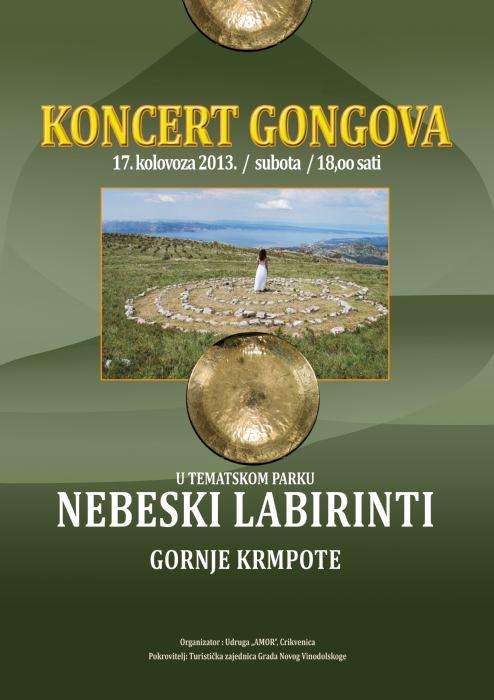 Koncert gongista - Nebeski labirinti Krmpote