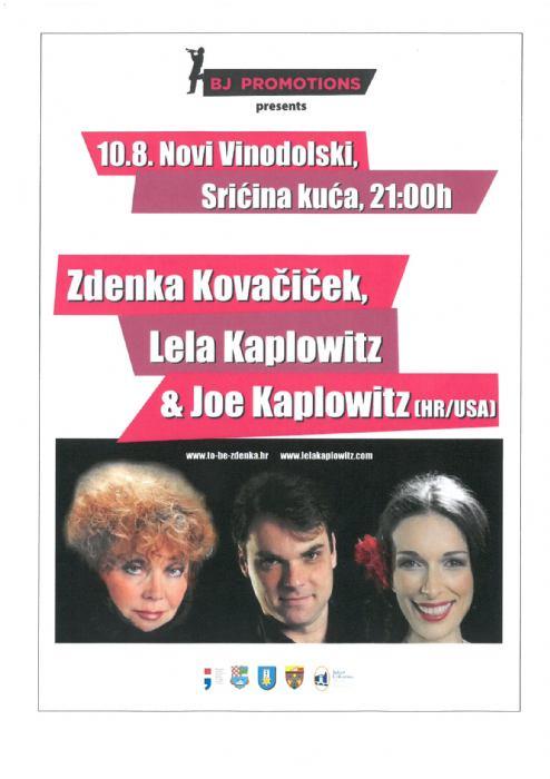 Koncert Zdenka Kovačiček, Lela Kaplowitz & Joe Kaplowitz