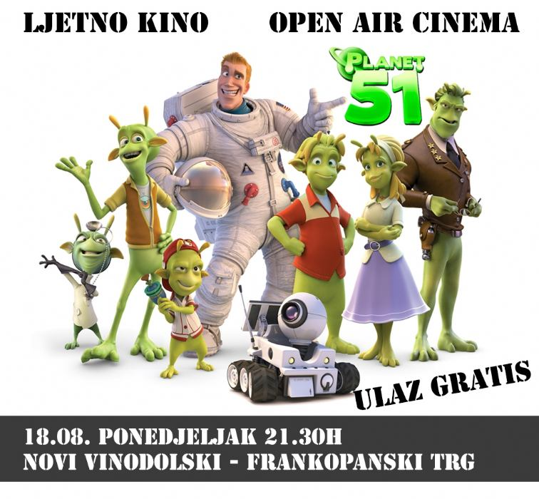 Open air cinema - Frankopanski trg