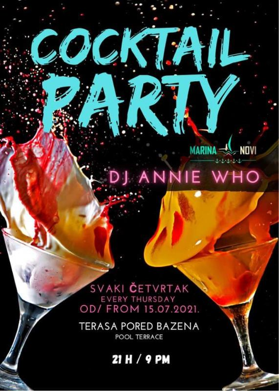 Cocktail party uz bazen uz DJ-a