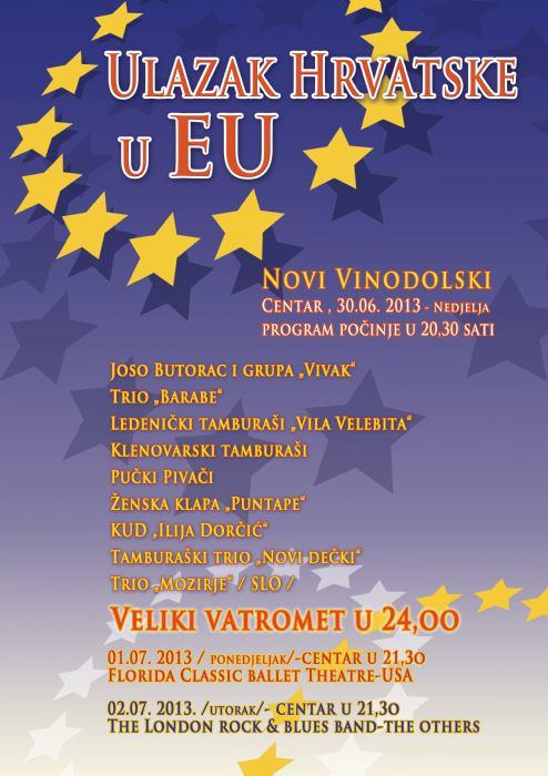 Fešta povodom ulaska u EU - centar